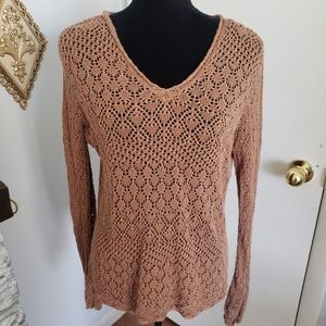Apostrophe brown loose knit sweater. Size M